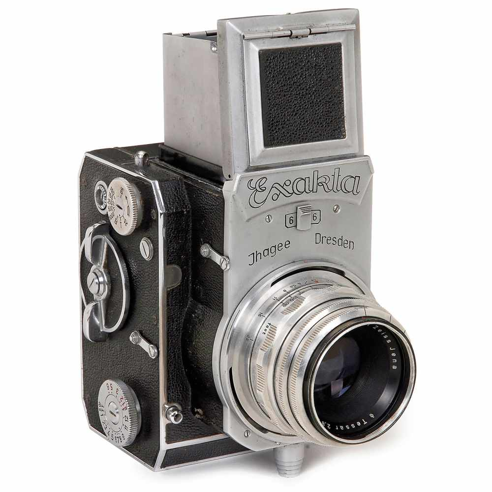 Lot 51 - Exakta 66 (Post-War), 1953Ihagee, Dresden. No. 600652, focal plane shutter 1/1000 sec. (working