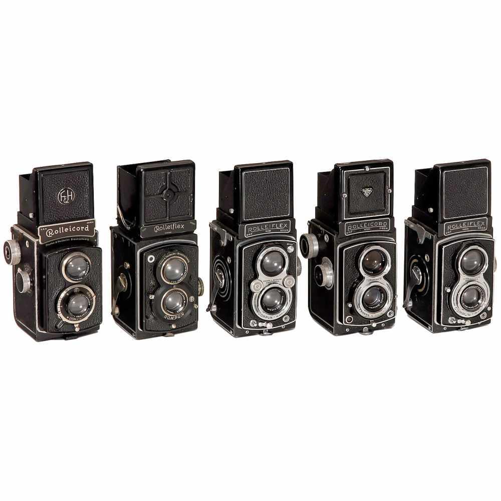 Los 2 - Rolleiflex and Rolleicord CamerasFranke & Heidecke, Braunschweig 1) Rolleiflex Standard 3,5, 1934,