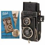 Pilot Reflex (3 x 4 cm), 1931Kamera-Werkstätten (K.W.) Guthe & Thorsch, Dresden. TLR camera 3 x 4 cm