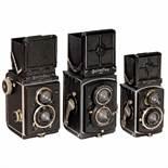 3 Early Rolleiflex CamerasFranke & Heidecke, Braunschweig. 1) Rolleiflex 6 x 6, 1929 (second model),