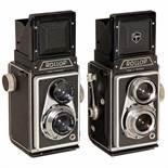 2 Rollop TLR CamerasLippische Camerafabrik, Barntrup. 1) Rollop I, 1954, Ennagon 3,5/7,5 cm in