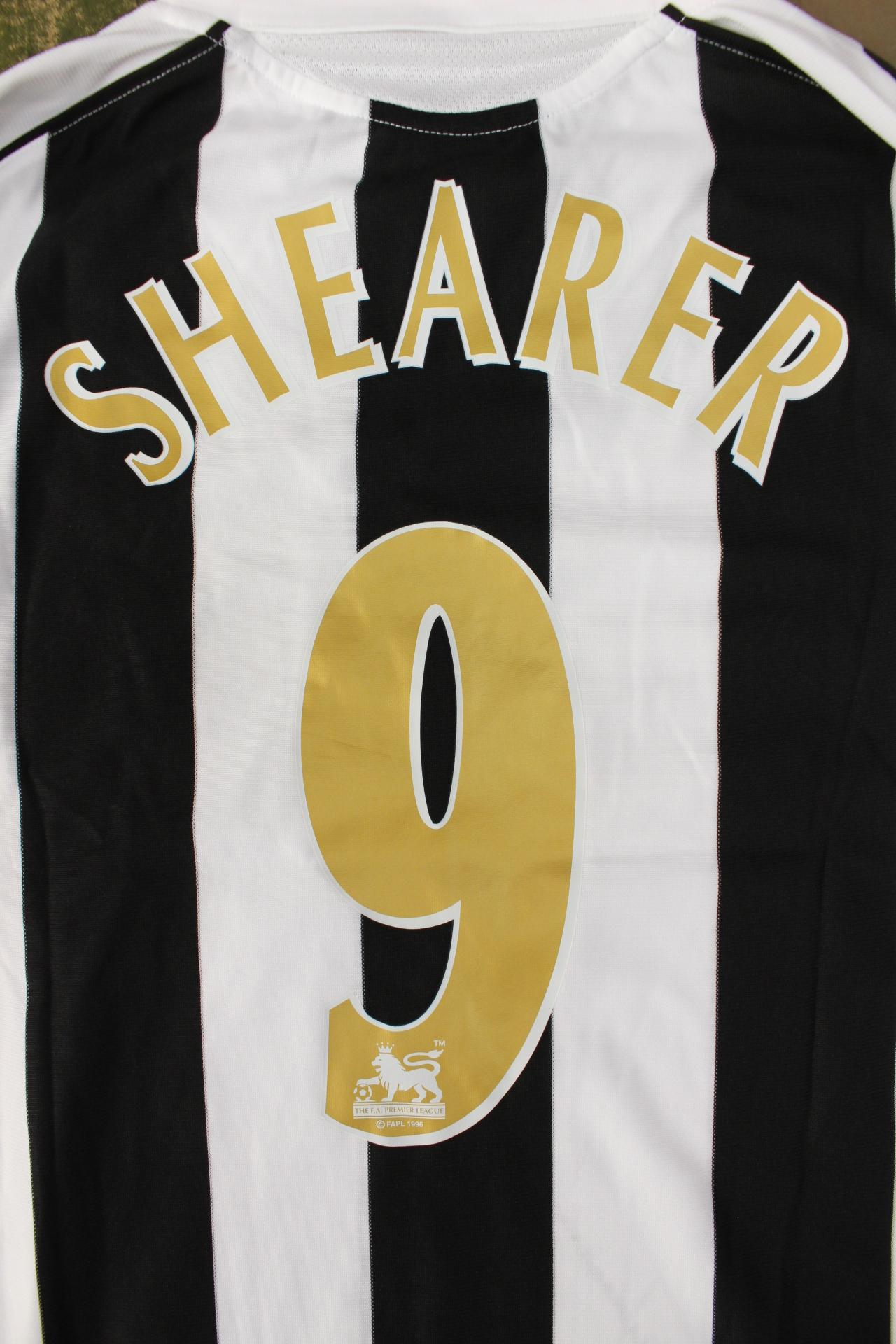 more photos e95e1 39be9 One Newcastle United shirt, signed by Alan Shearer, No.9