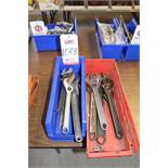 LOT - ADJUSTABLE WRENCHES, (LUNCHROOM)