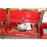 MILWAUKEE PORTABLE BAND SAW W/ CASE, (LUNCHROOM)