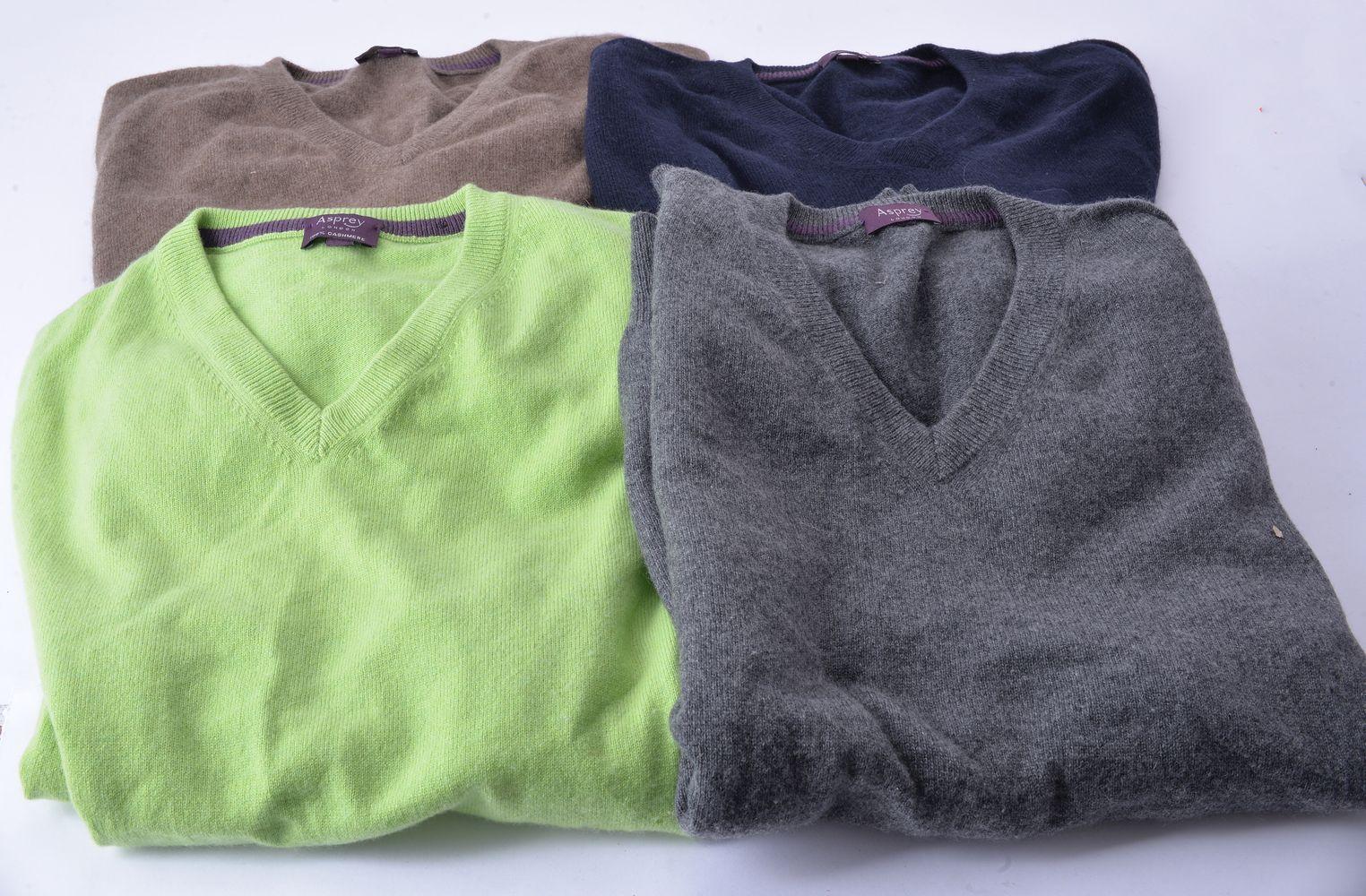 Lot 1106 - Asprey, four cashmere jumpers