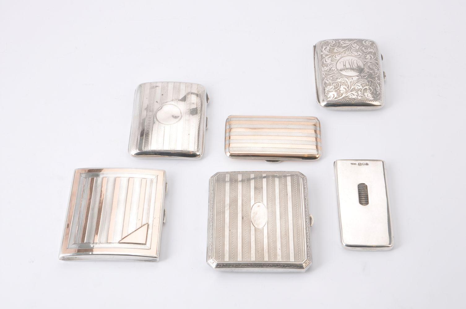 An Edwardian silver Needham's Patent rectangular card case by Henry Williamson Ltd