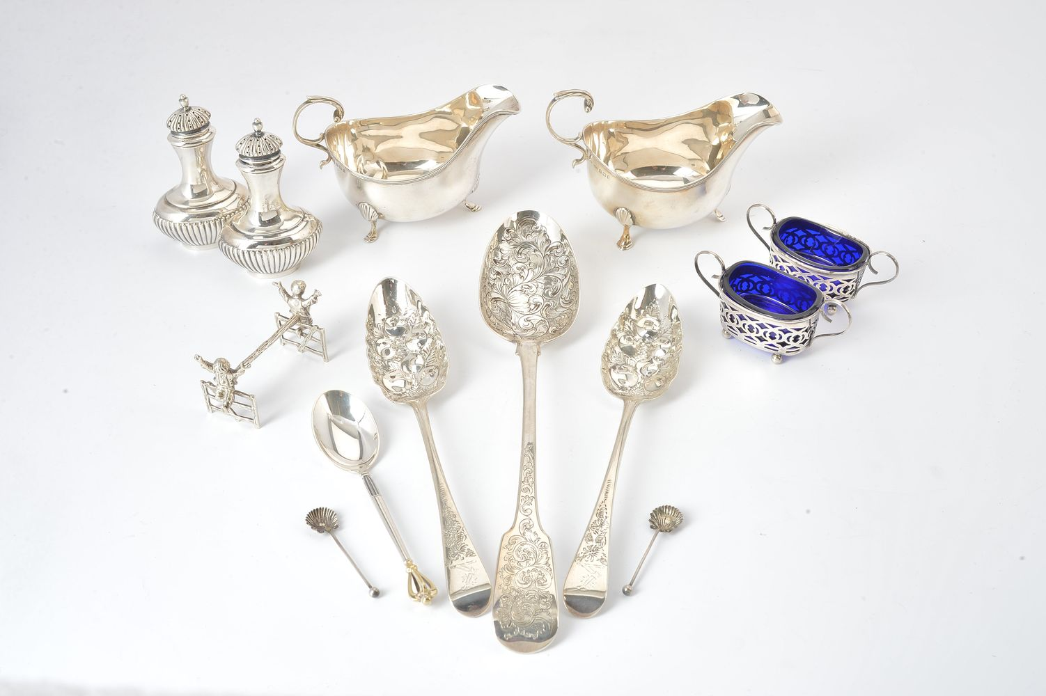 A collection of silver for the table