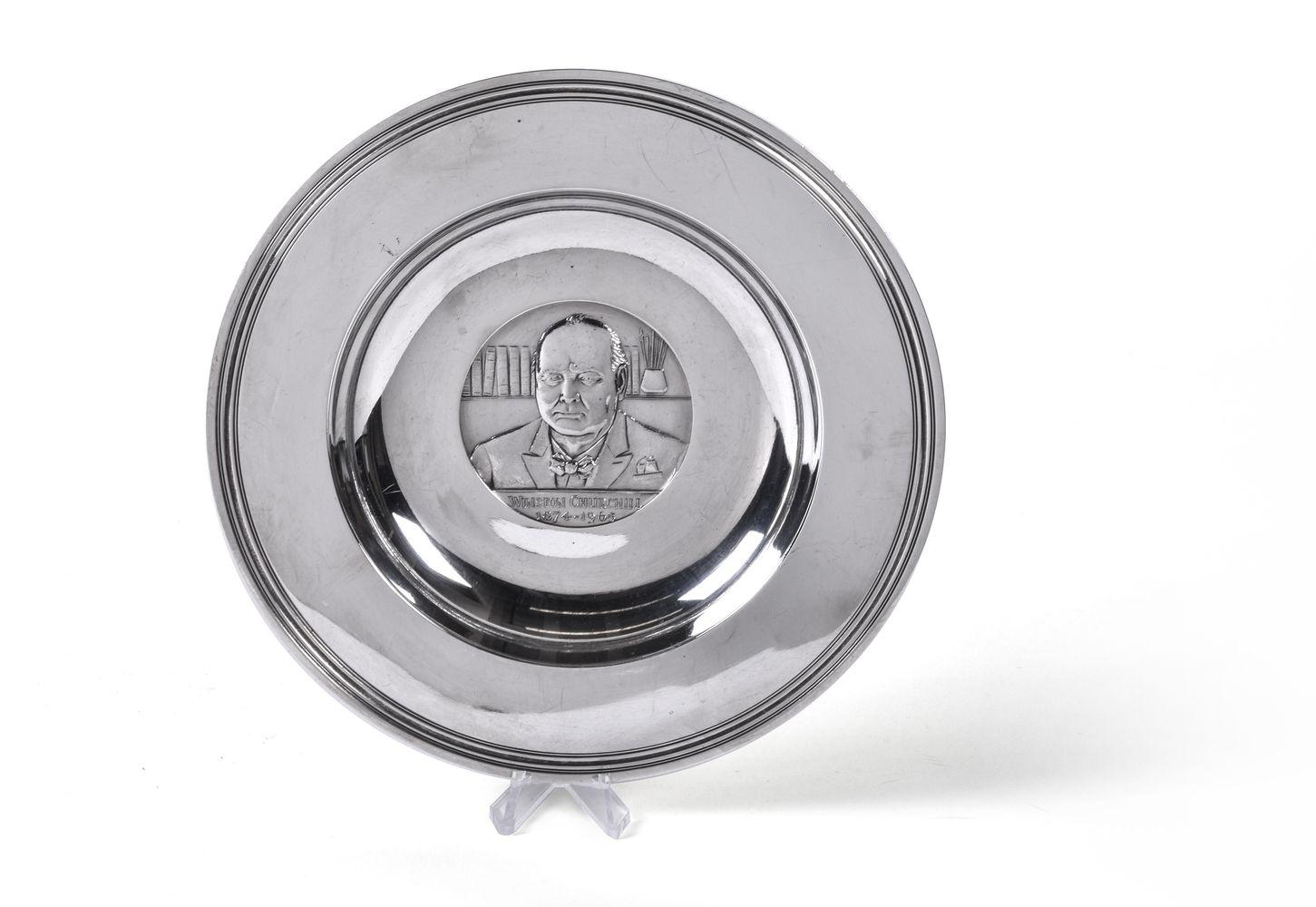 [Winston Churchill interest] A silver commemorative dish by C. J. Vander Ltd - Image 2 of 4
