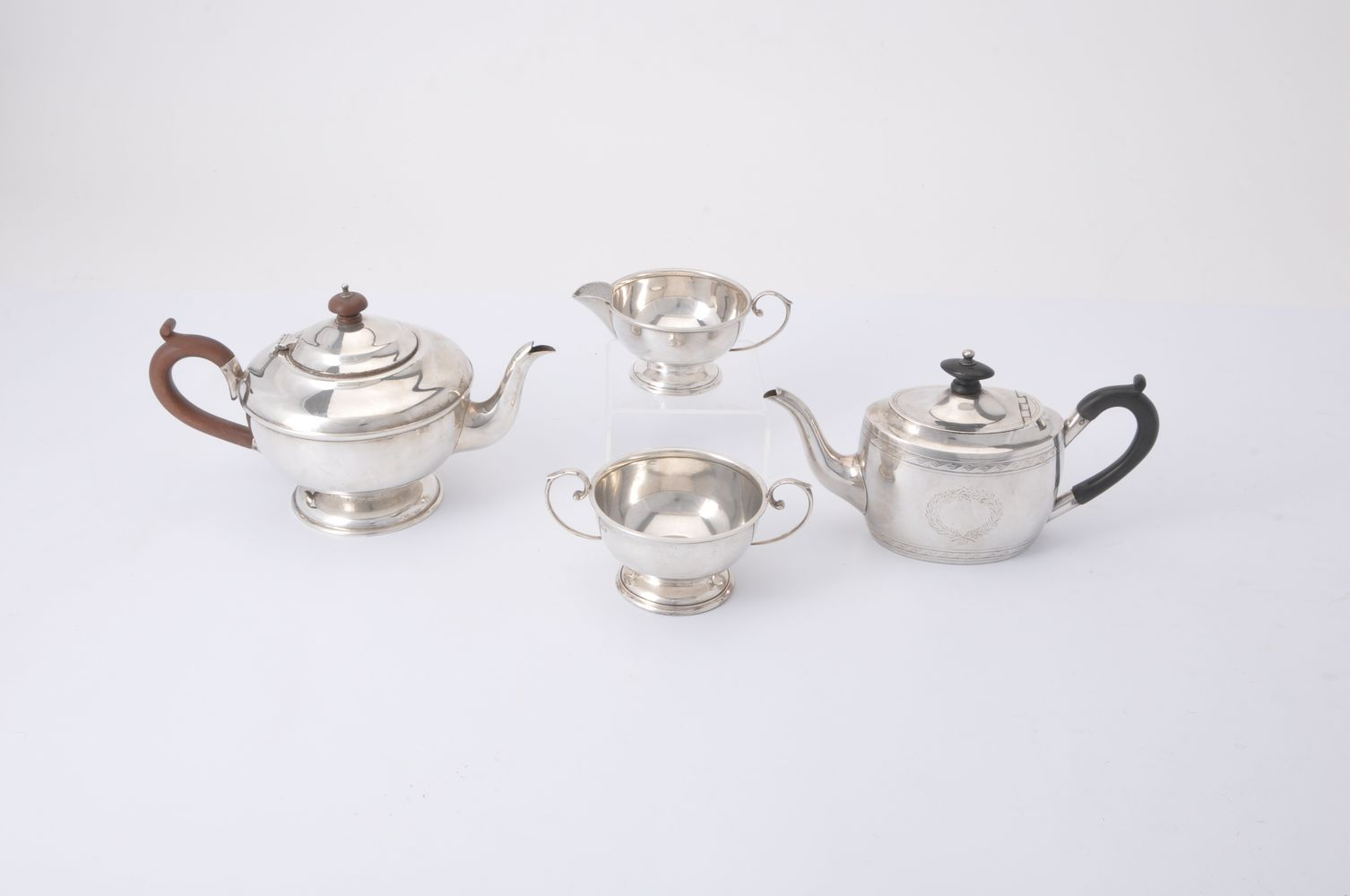 A Victorian silver oval tea pot by Henry Stratford