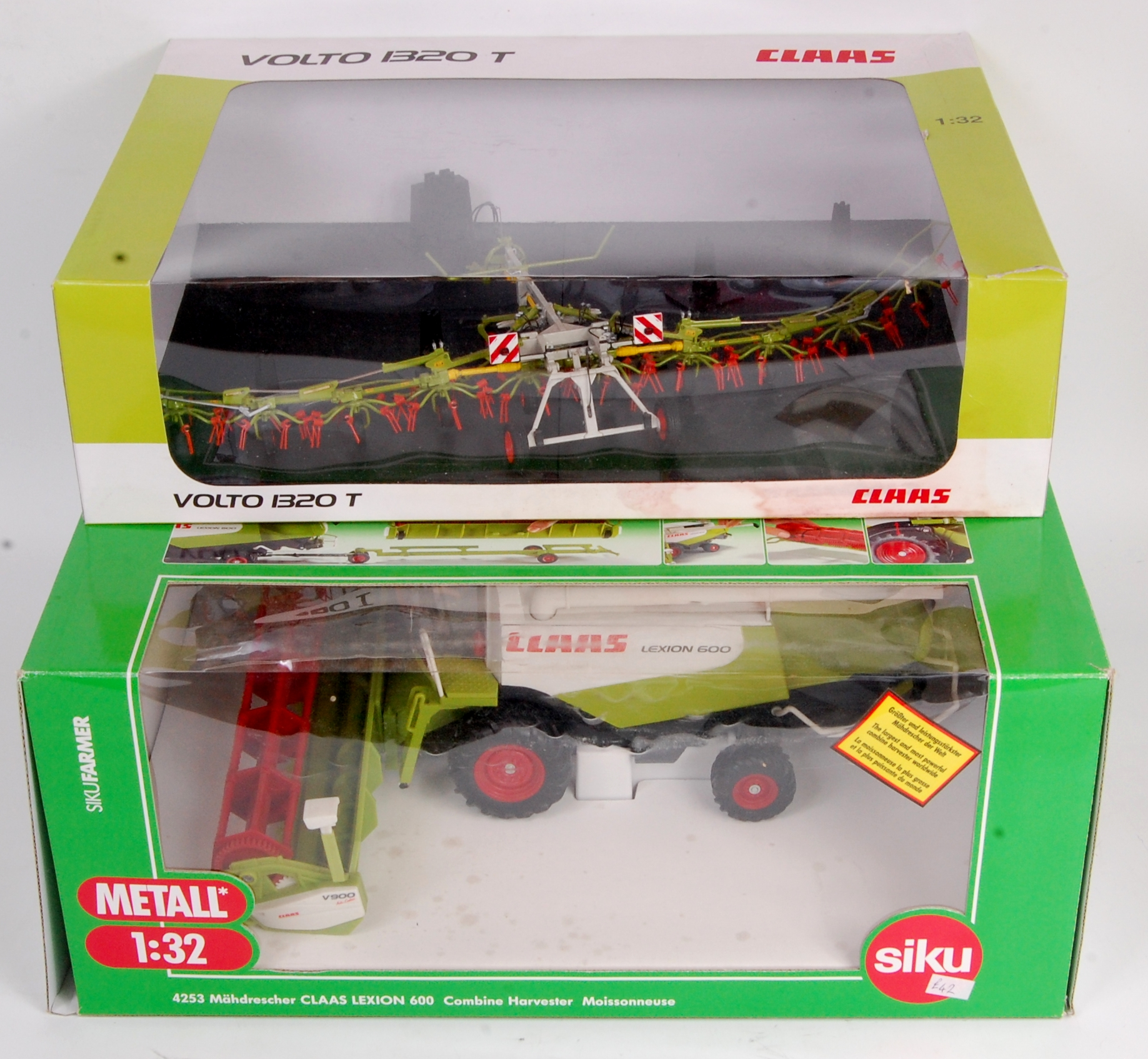 Siku and Universal Hobbies Claas Combine Harvester and