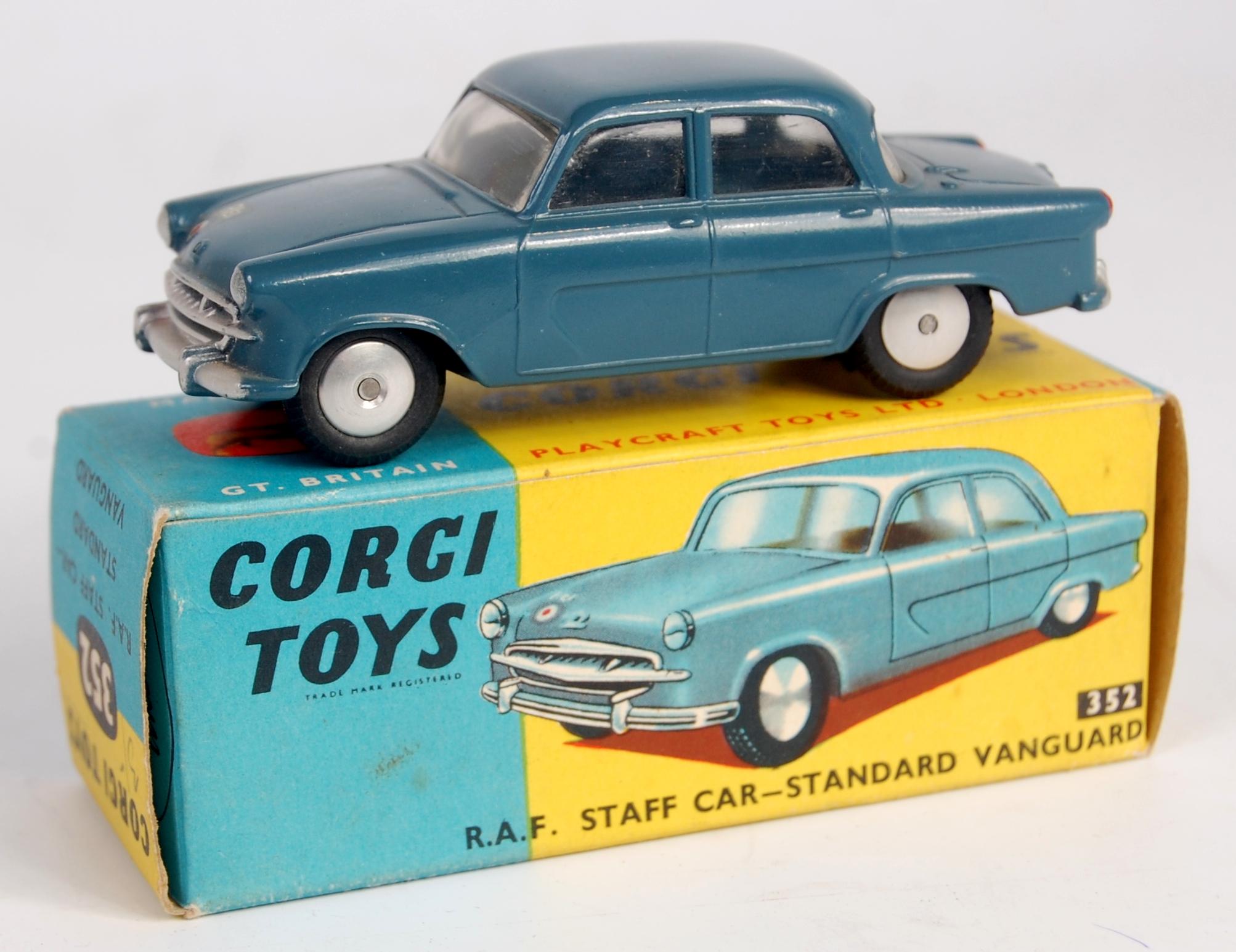 Corgi Toys, 352 RAF Standard Vanguard staff car, blue body with ...