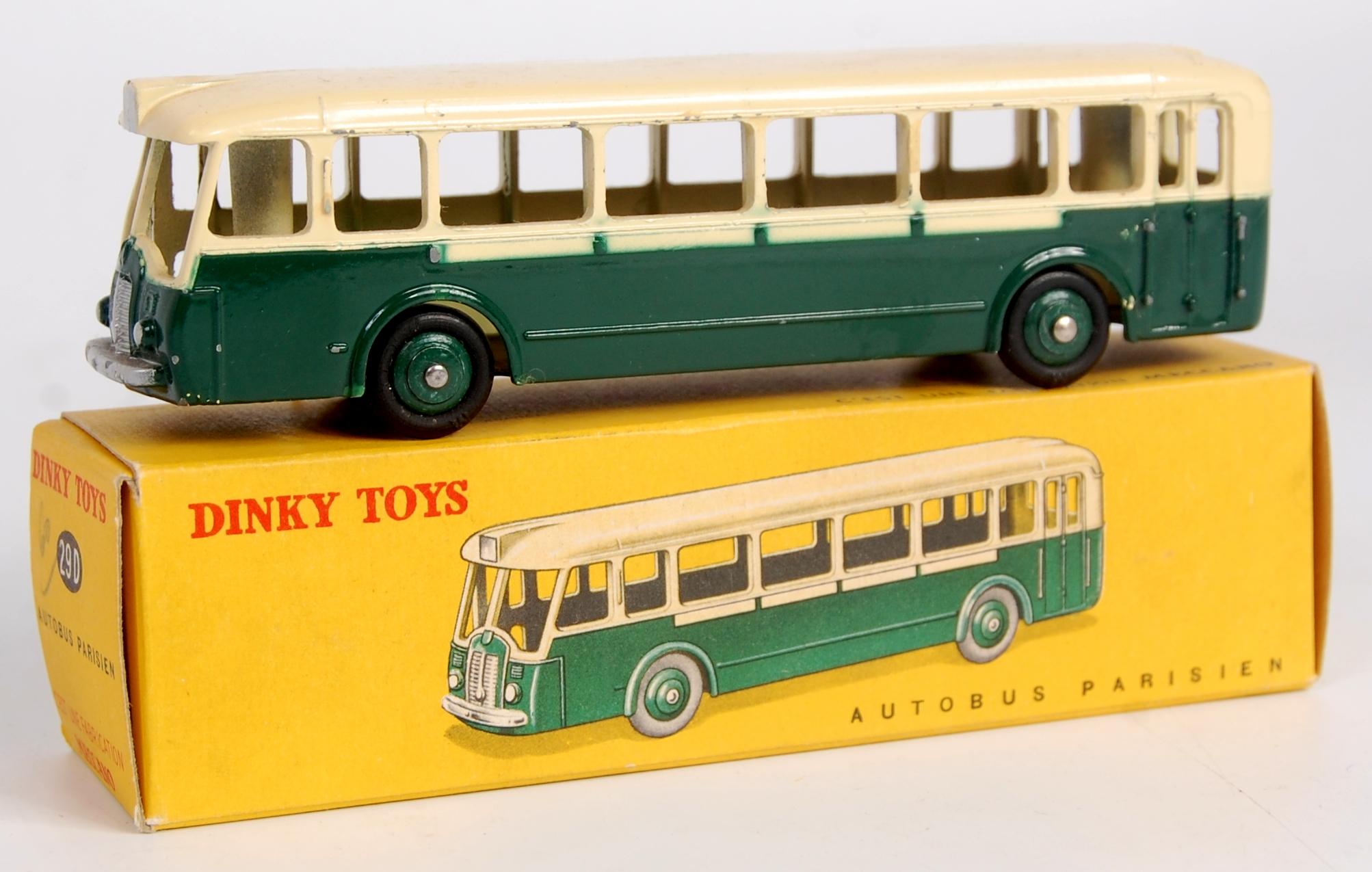 French Dinky Toys 29d Somua Panhard Paris Bus Dark Green