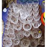 Two part suites of Stuart Crystal drinking glasses