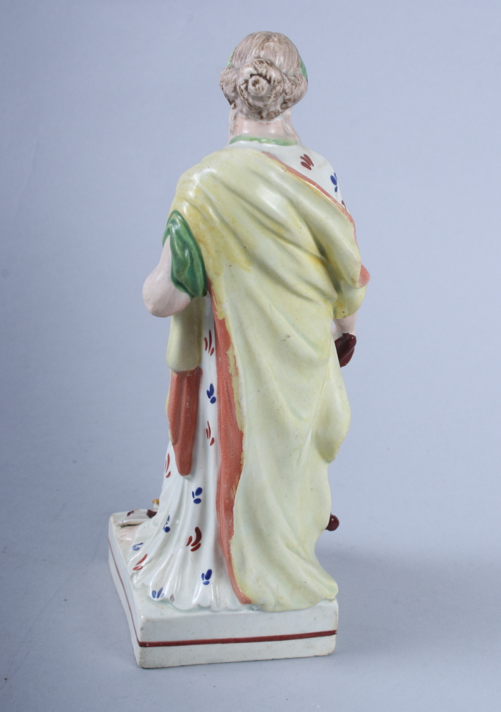"Lot 19 - An 18th century Staffordshire figure, ""Peace"", 8"" high (restorations)"