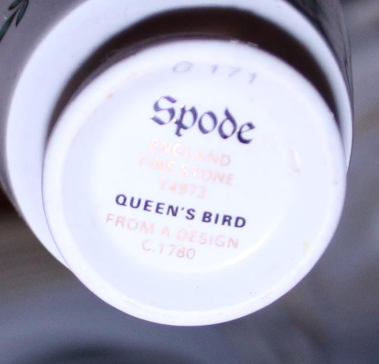 """Lot 56 - A Copeland Spode """"Queen's Bird"""" pattern part combination service"""