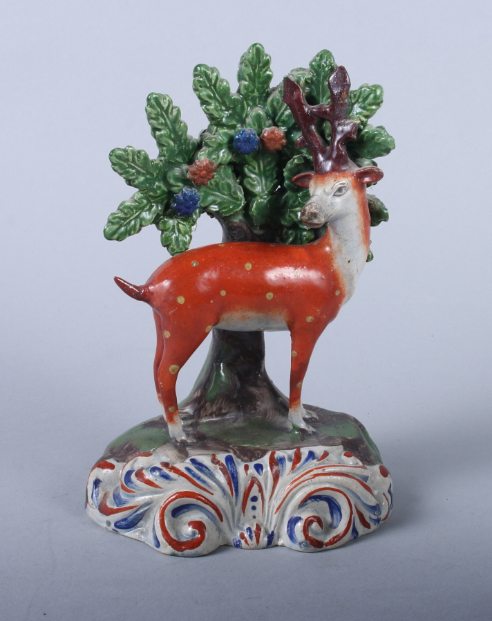 "Lot 20 - A Walton type model of a stag, on scrollwork base, 6"" high (restorations)"