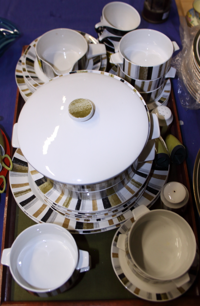 "Lot 47 - A Midwinter ""Queensbury"" pattern part dinner service, shapes designed by the Marquis of"