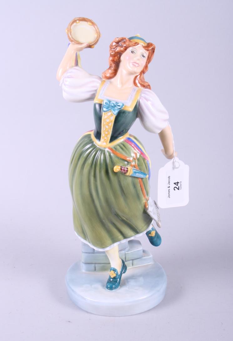 "Lot 24 - A Royal Doulton porcelain figure, ""Elsie Maynard"" HN2902, in box"