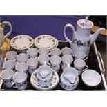 """A Royal Doulton """"Larchmont"""" pattern bone china coffee set"""