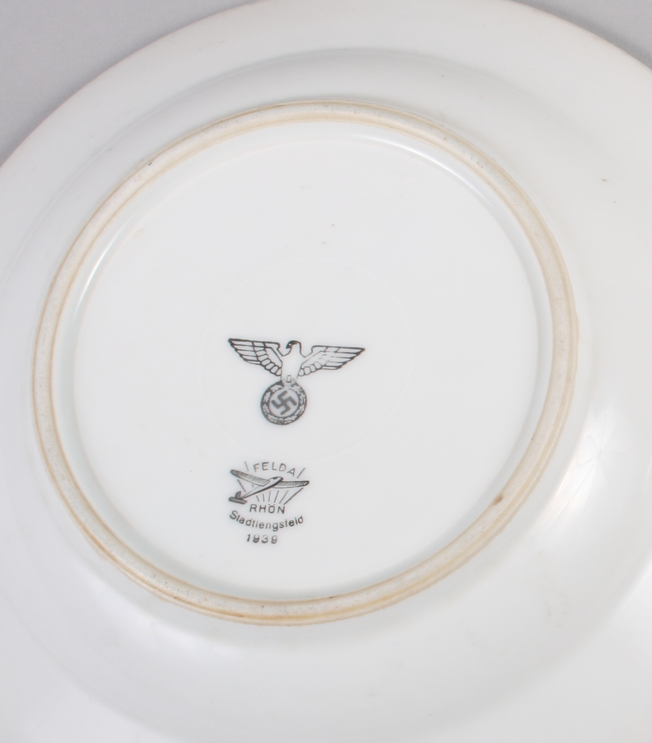 Lot 3 - A pair of Felda Rhon bowls, dated 1939, underside bearing the emblem of the Third Reich