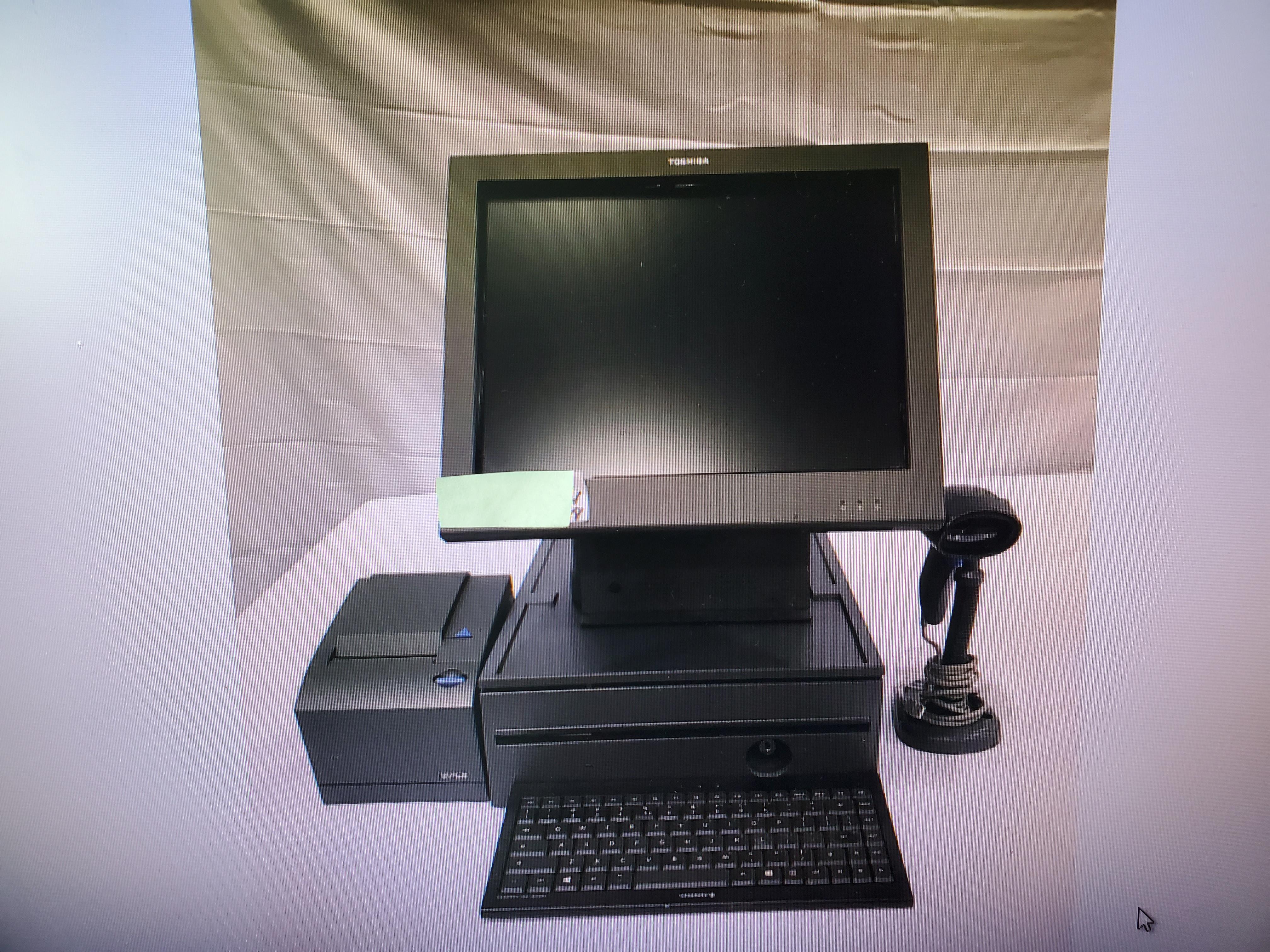 Lot 96 - Toshiba Touchscreen POS System: Surepos 570 2GB Ram, 500GB HD, IBM Suremark 4610-1NR Thermal Receipt