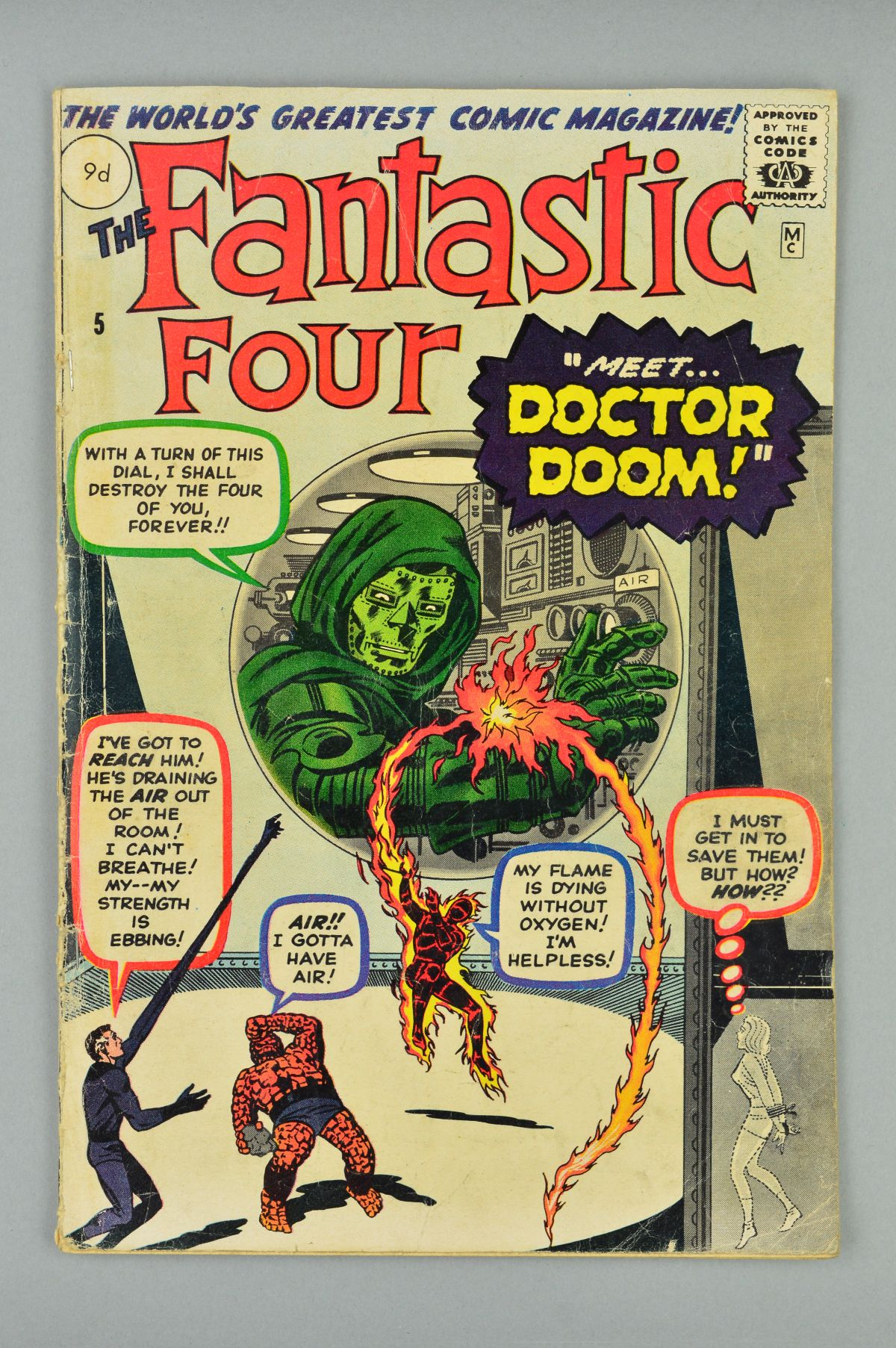 Lot 1805 - Fantastic Four (1961) #5, Published:July 01, 1962,Writer:Stan Lee, Let's see, what's the most