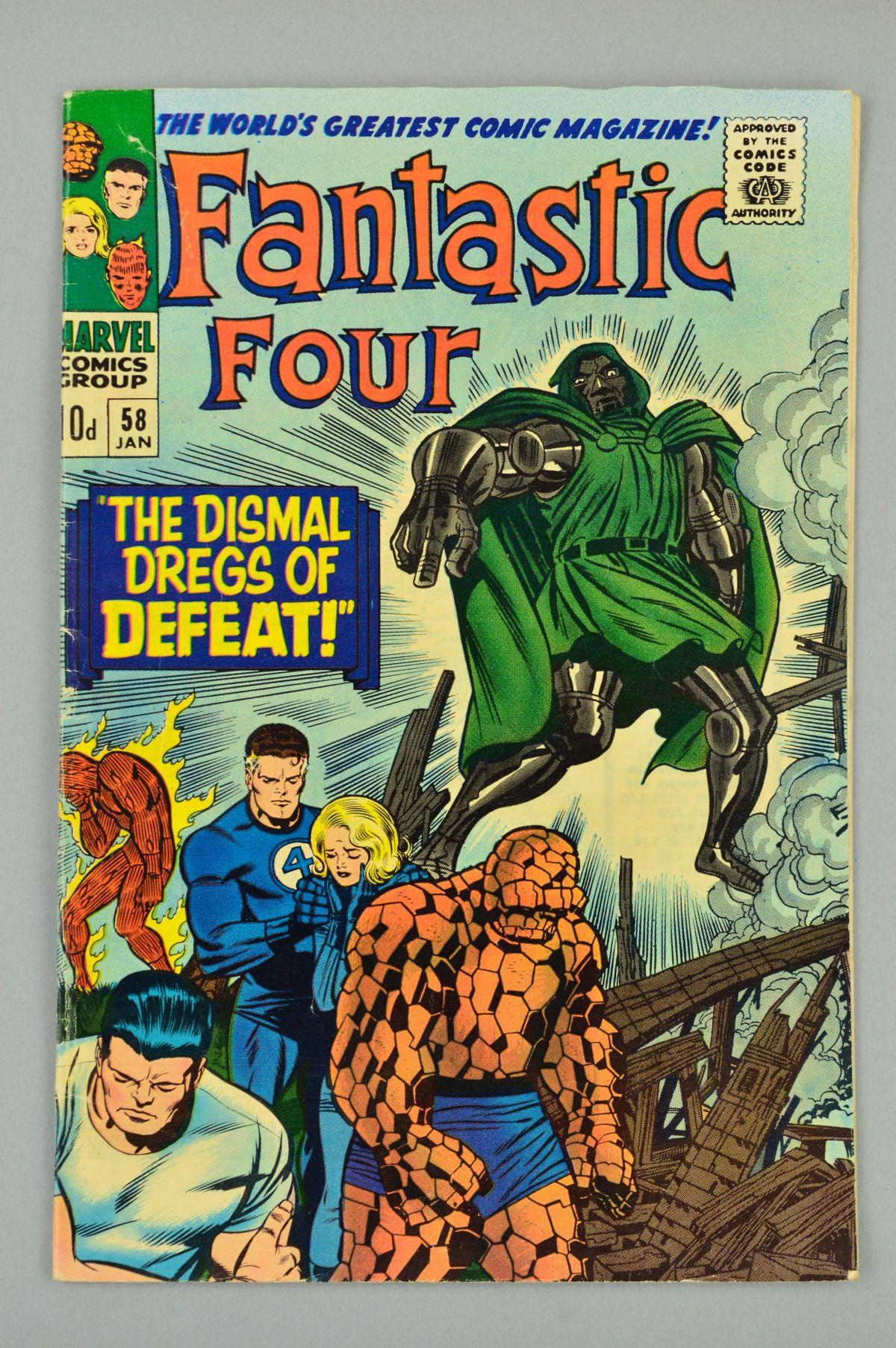 Lot 1853 - Fantastic Four (1961) #58, Published:January 10, 1967