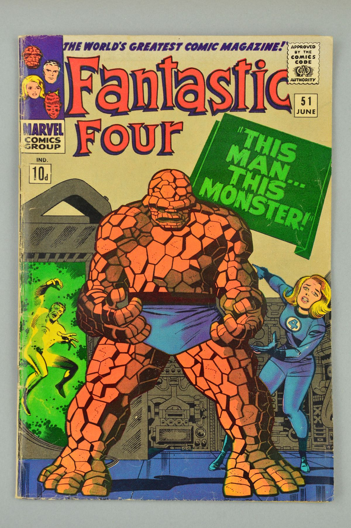 Lot 1846 - Fantastic Four (1961) #51, Published:June 10, 1966, Penciller:Jack Kirby, Cover Artist:Jack Kirby
