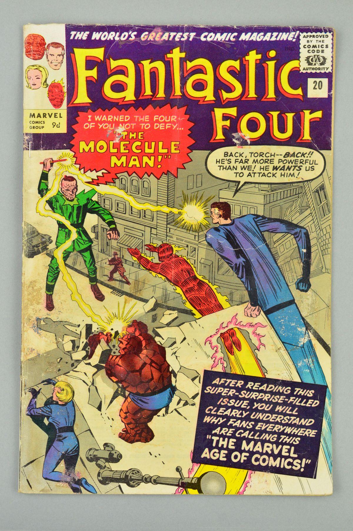 Lot 1820 - Fantastic Four (1961) #20, Published:November 10, 1963, Penciller:Steve Ditko