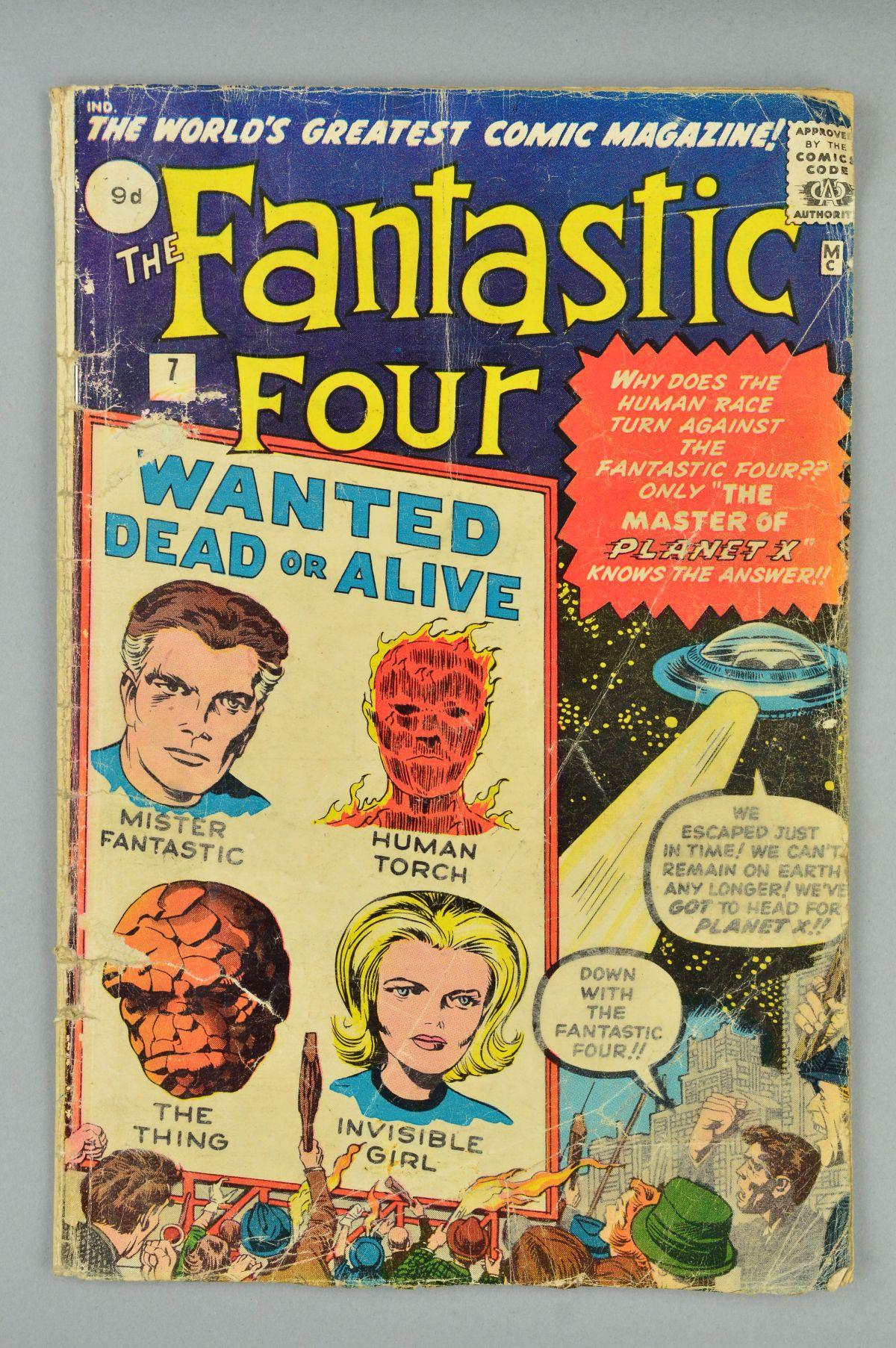 Lot 1807 - Fantastic Four (1961) #7, Published:October 01, 1962, Writer:Stan Lee, The Fantastic Four journey