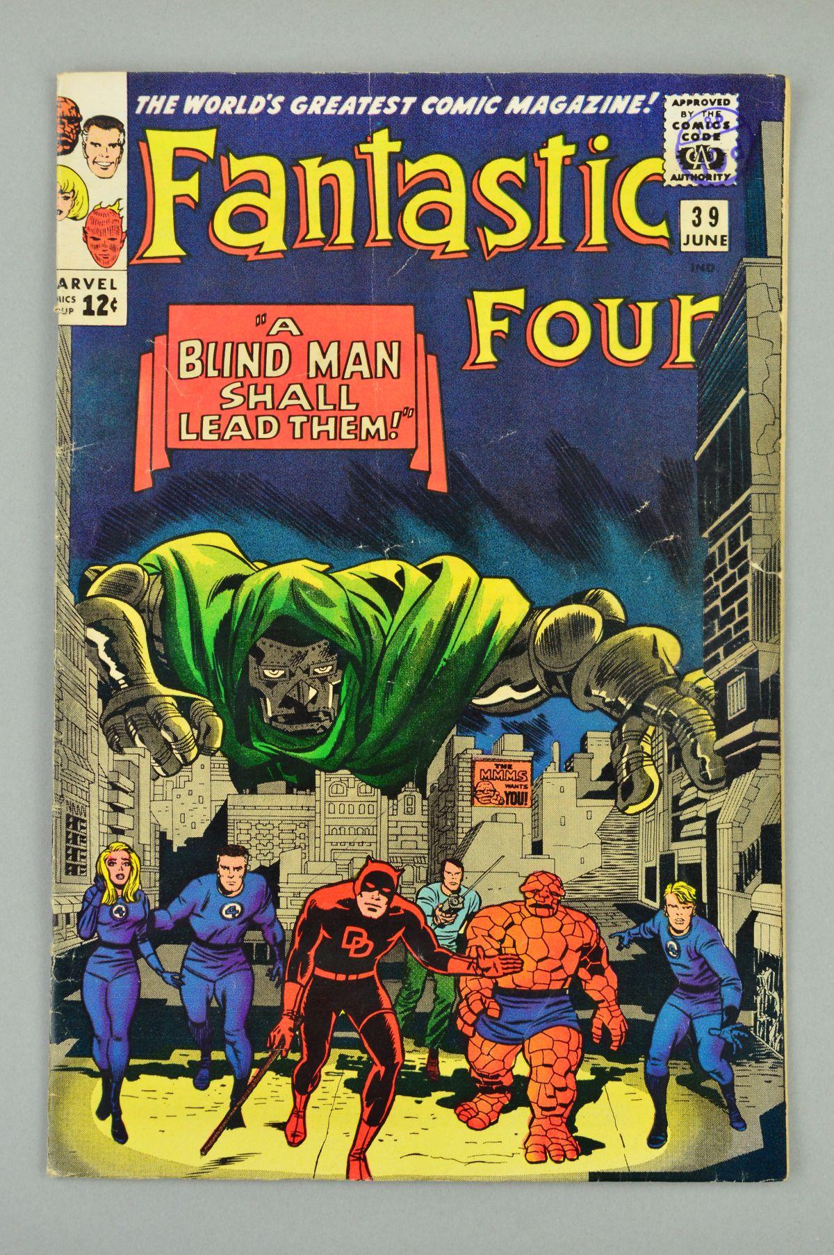 Lot 1838 - Fantastic Four (1961) #39, Published:June 10, 1965, Writer:Stan Lee, Penciller:Jack Kirby, Cover