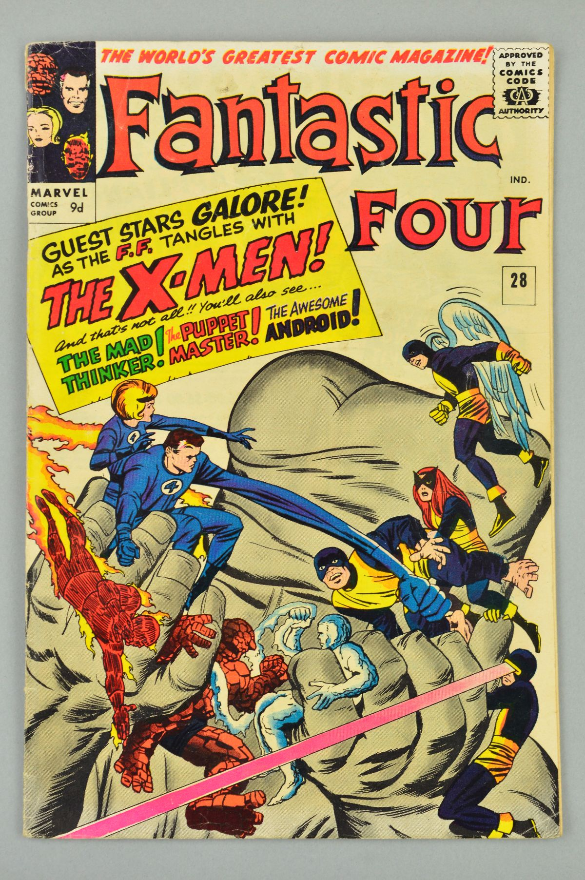 Lot 1828 - Fantastic Four (1961) #28, Published:July 10, 1964, The X-Men guest-star as they and the Fantastic