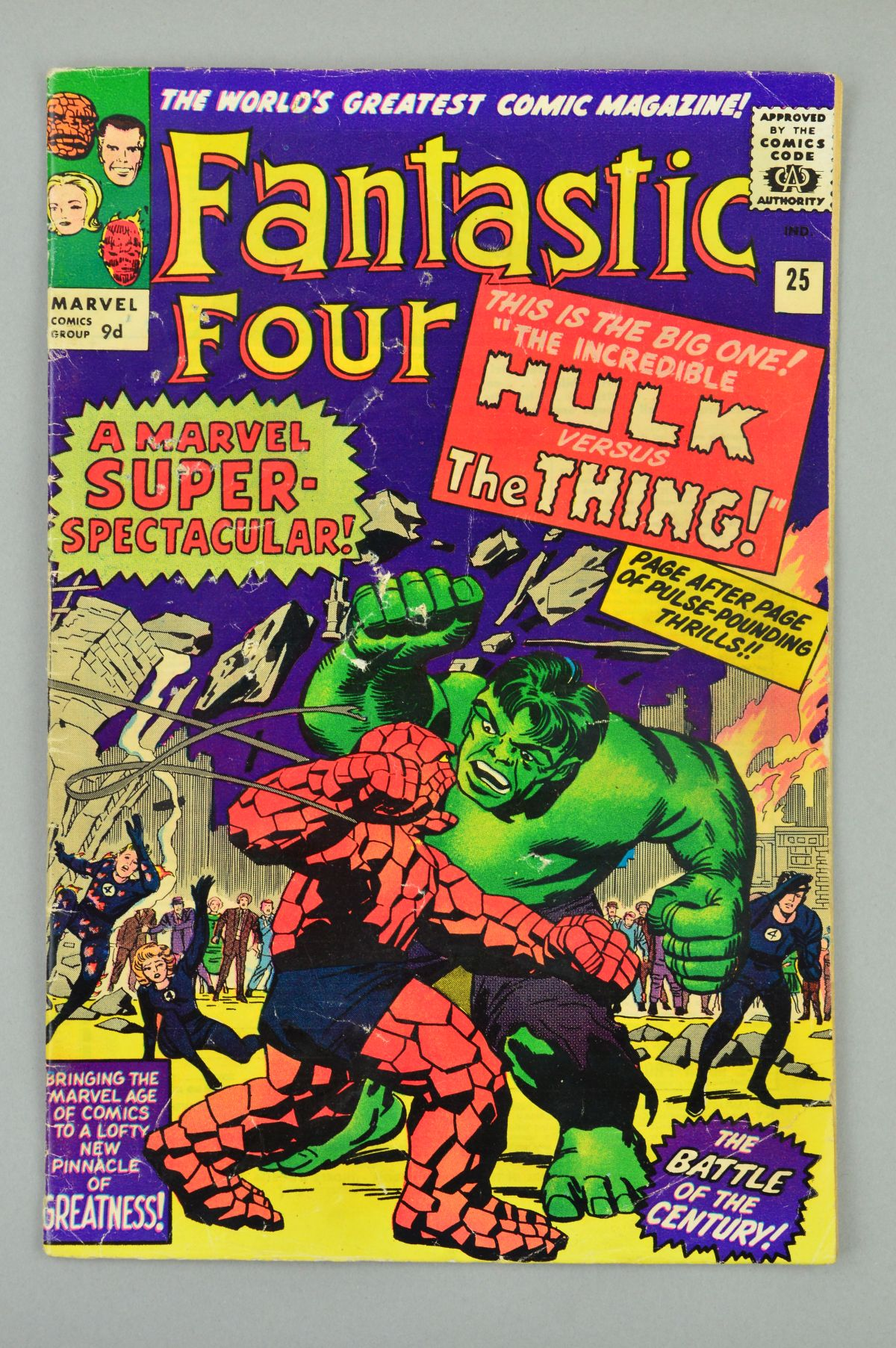 Lot 1825 - Fantastic Four (1961) #25, Published:April 10, 1964, The battle you've been waiting for! The