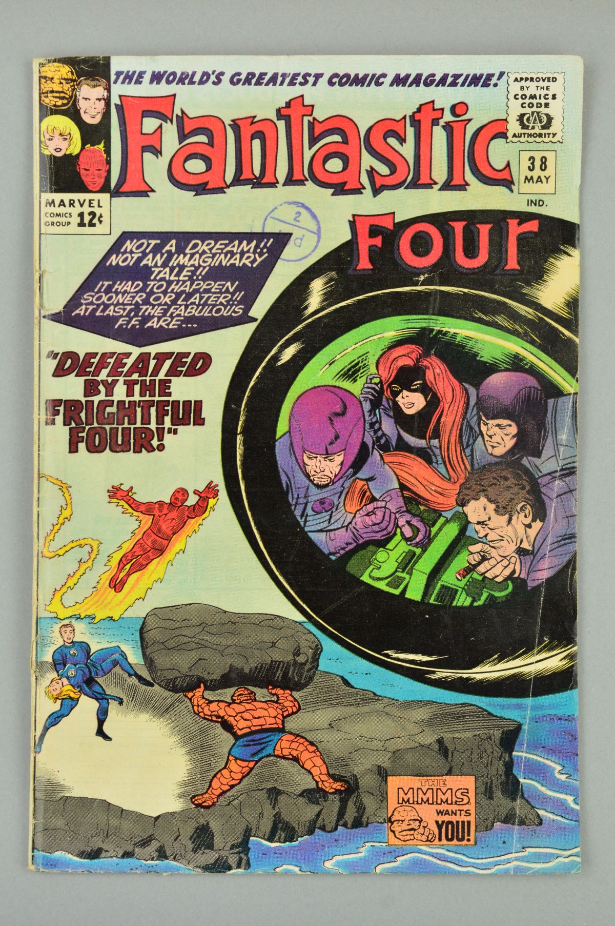 Lot 1837 - Fantastic Four (1961) #38, Published:May 10, 1965, Writer:Stan Lee, Penciller:Jack Kirby, Cover