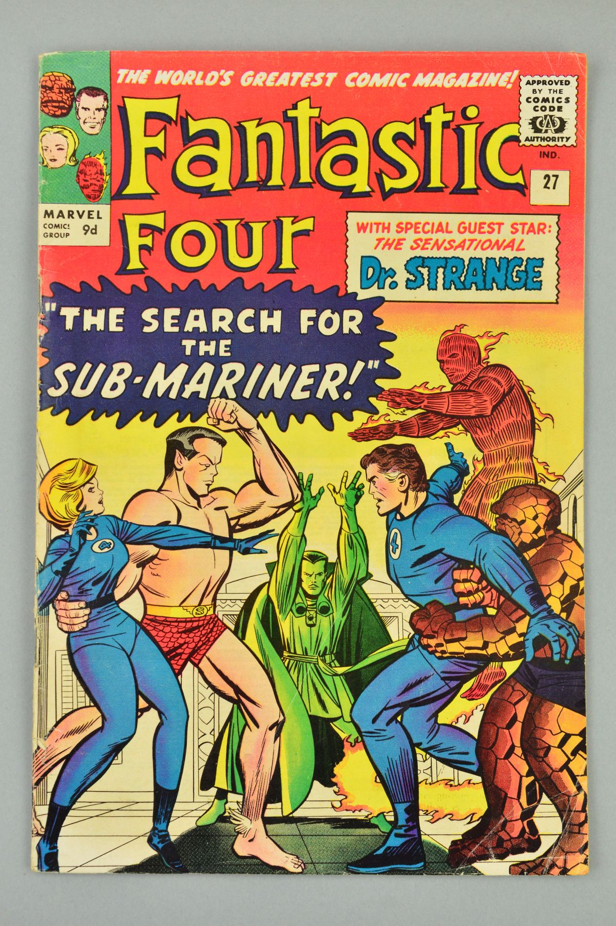 Lot 1827 - Fantastic Four (1961) #27, Published:June 10, 1964, The Invisible Girl is kidnapped by Namor the