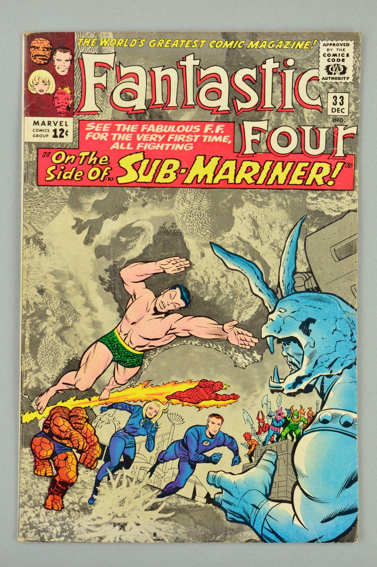 Lot 1832 - Fantastic Four (1961) #33, Published:December 10, 1964, Writer:Stan Lee, Penciller:Jack Kirby, Cover