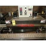 "ACCUTEK CONVEYOR MDL. 26-ST45-SA0, 4.5"" X 10', SS, VARIABLE SPEED CONVEYOR W/PHASE FIRE SHRINK"