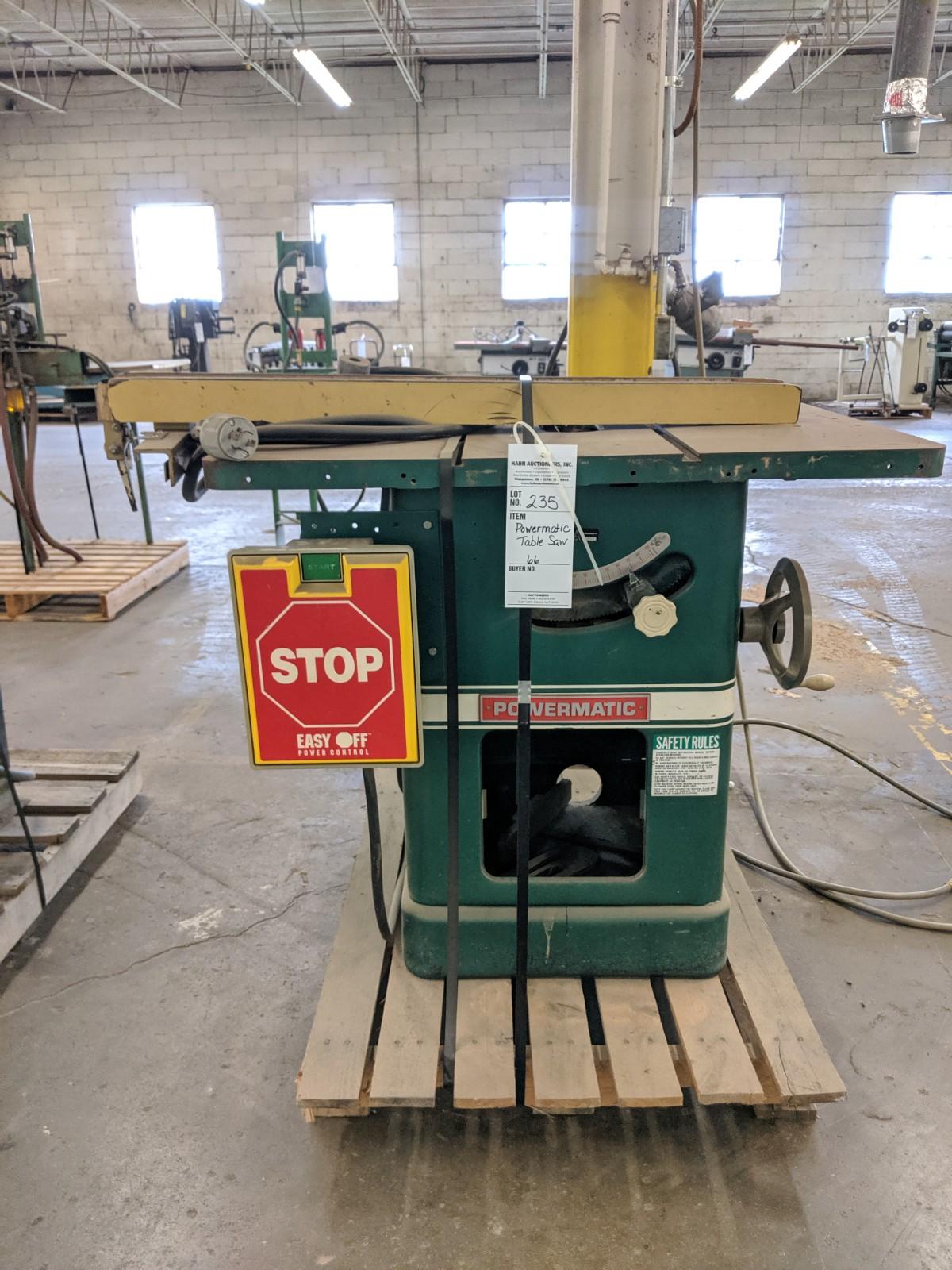 Lot 235 - Powermatic Table Saw