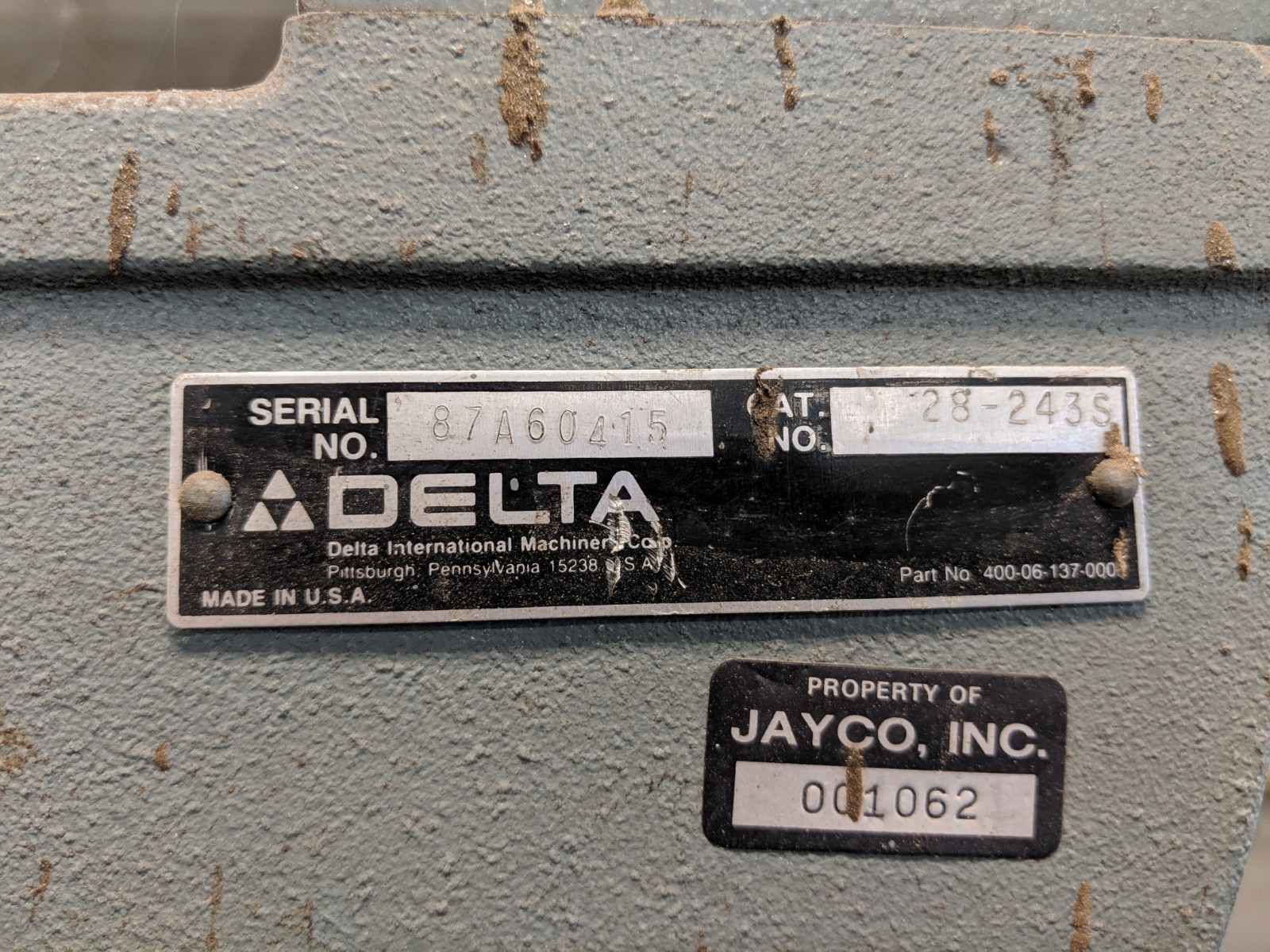 Lot 236 - Delta Band Saw -As Is