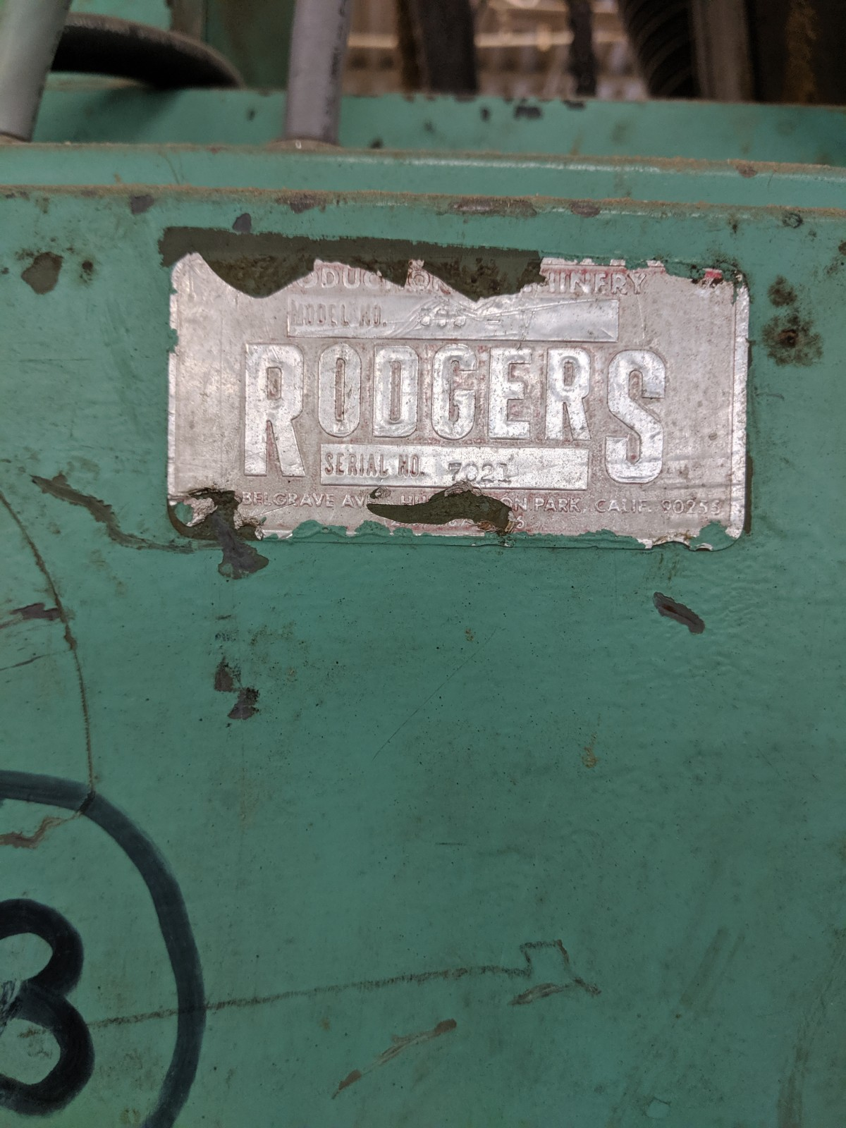 Lot 224 - Rodgers Panel Saw