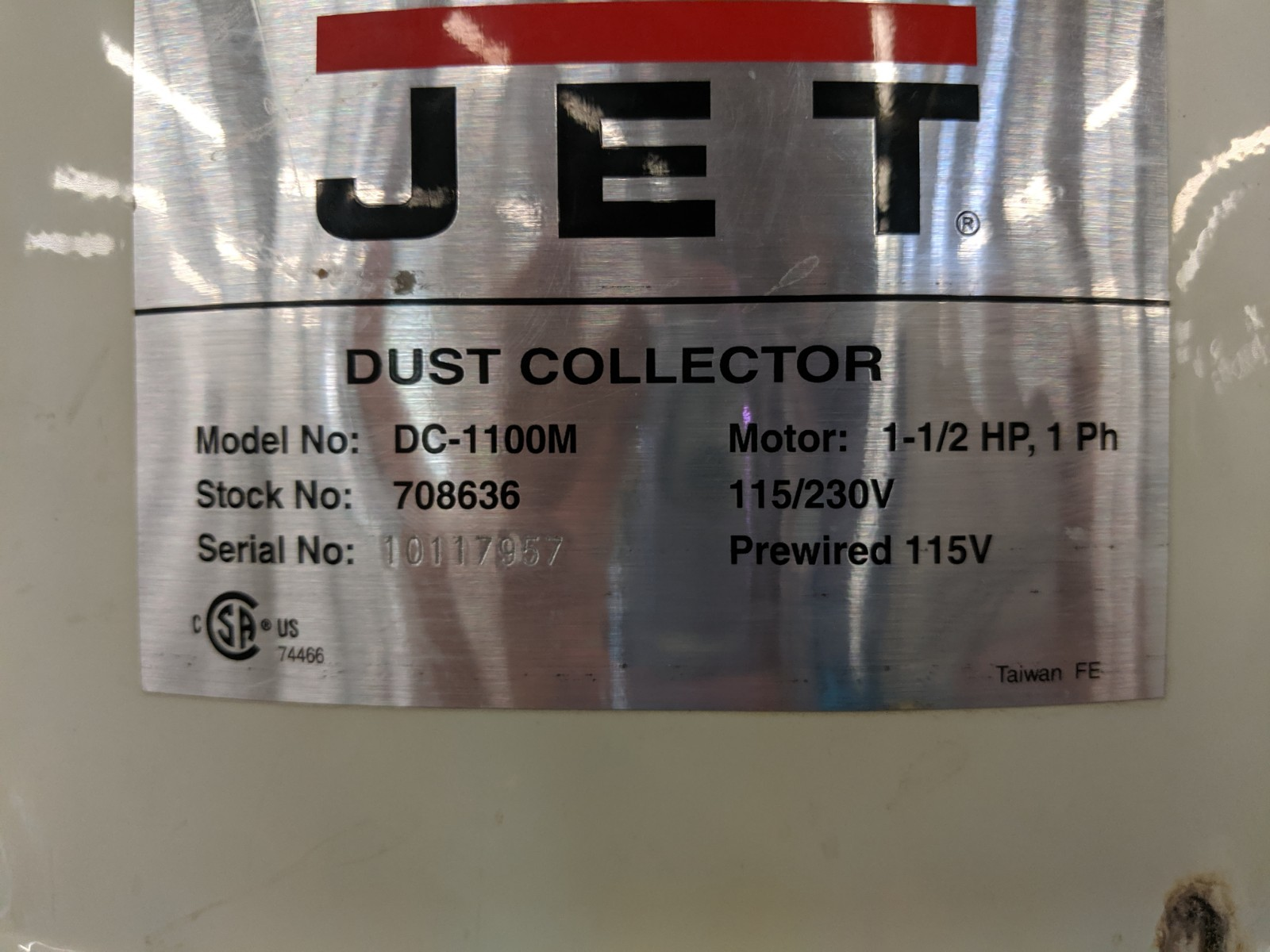 Lot 245 - Jet Dust Collector
