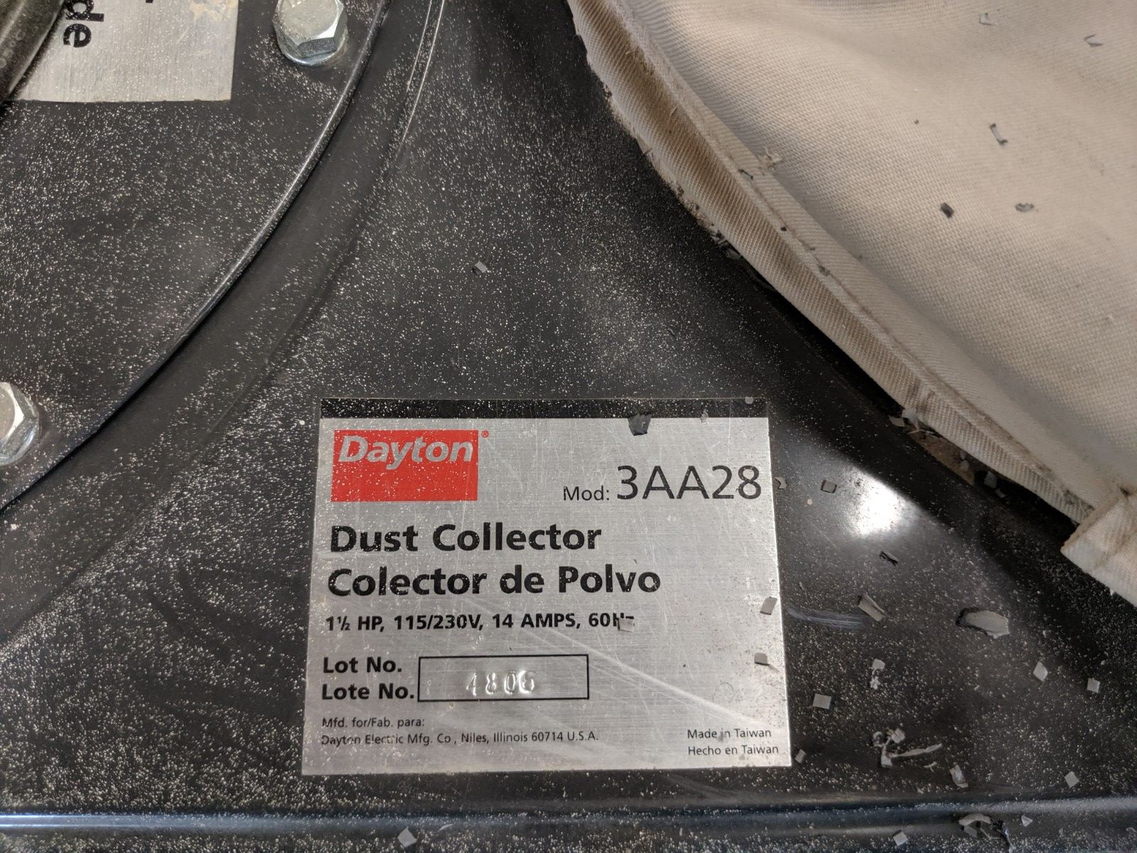 Lot 222 - Dayton Dust Collector
