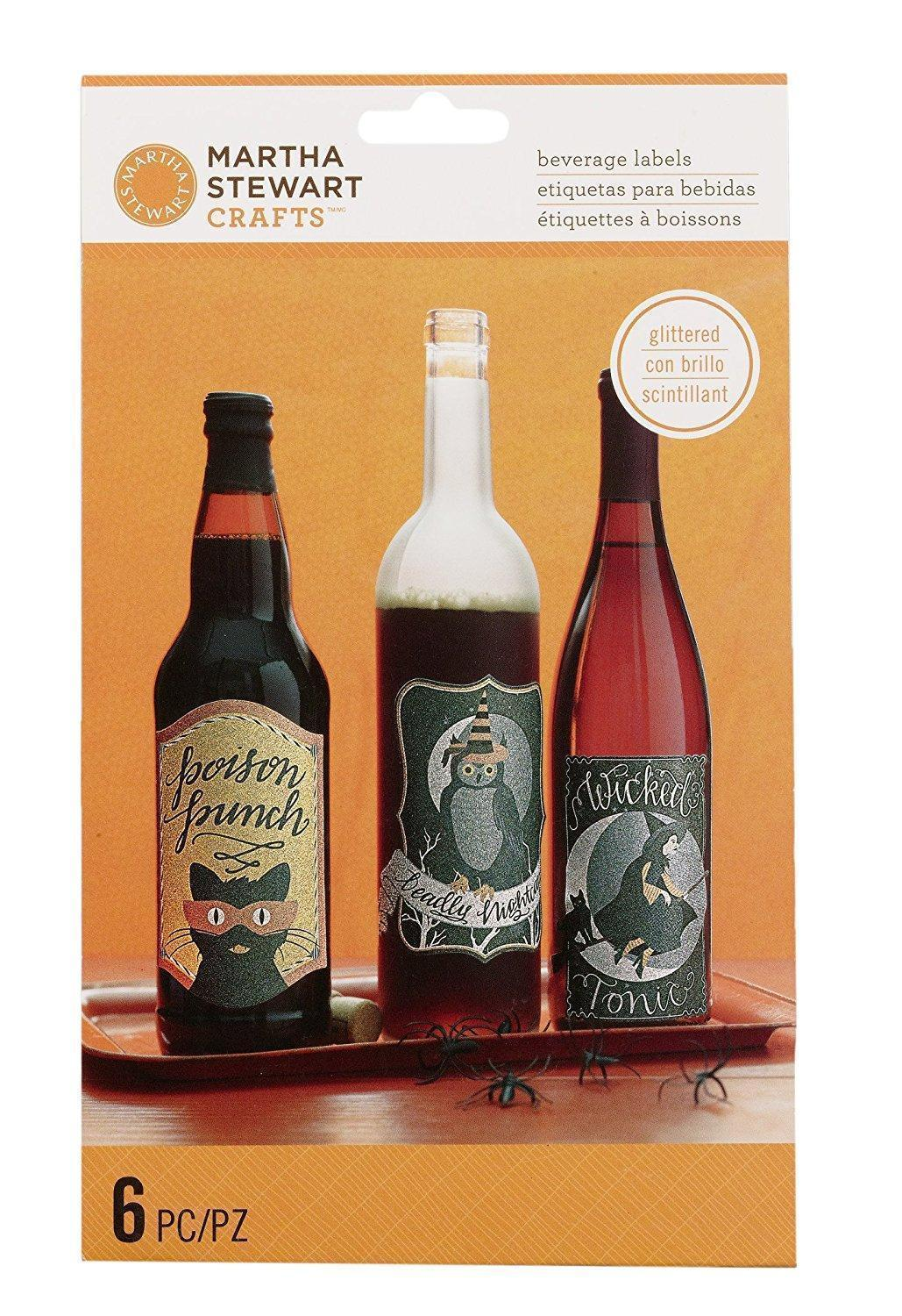 Lot 83 - LOT OF 50 Martha Stewart Crafts Wine Labels, Animal Masquerade MIXED STYLES