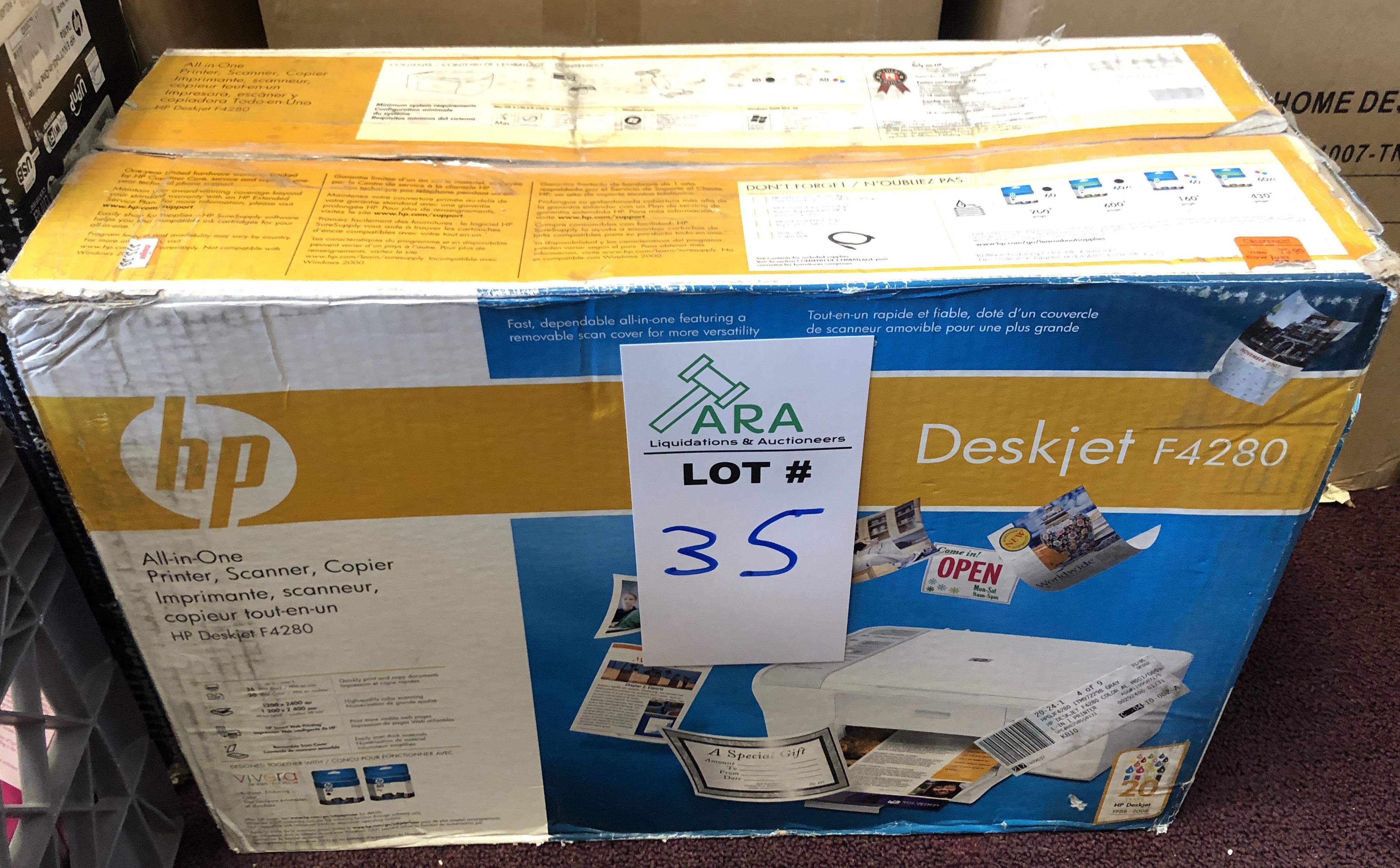 Lot 35 - HP DESKJET F4280 OPEN BOX NEW UNIT