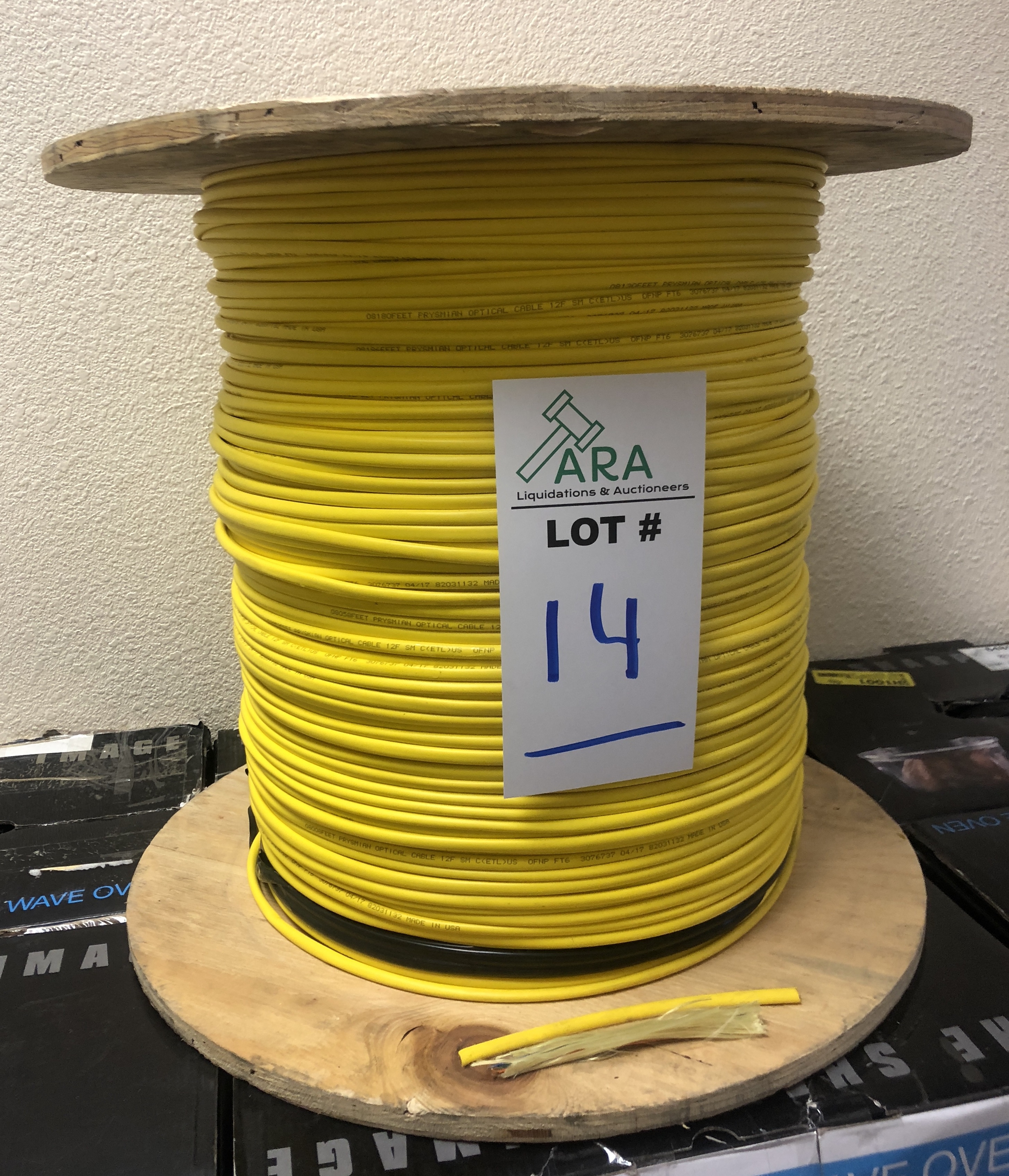 Lot 14 - FIBER OPTIC WIRE CABLE Prysmian Optical 1007155216 Large Spool Brand New