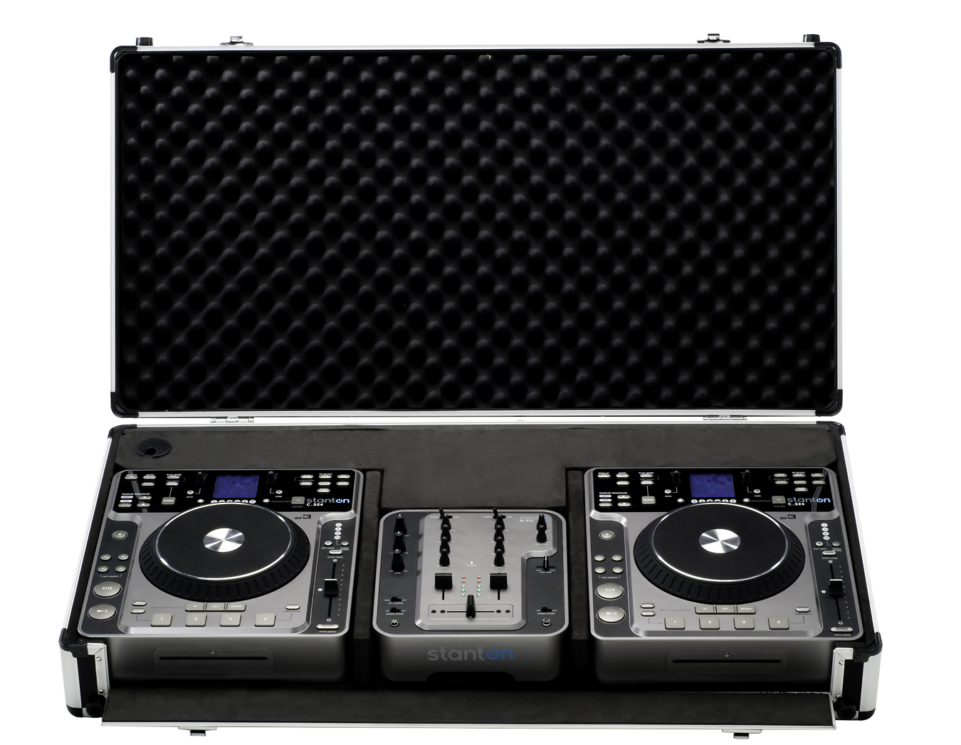 Lot 20 - 2 X STANTON DIGIPAK PRO.V4 DJ TURNTABLE AUDIO PORTABLE SYSTEMS