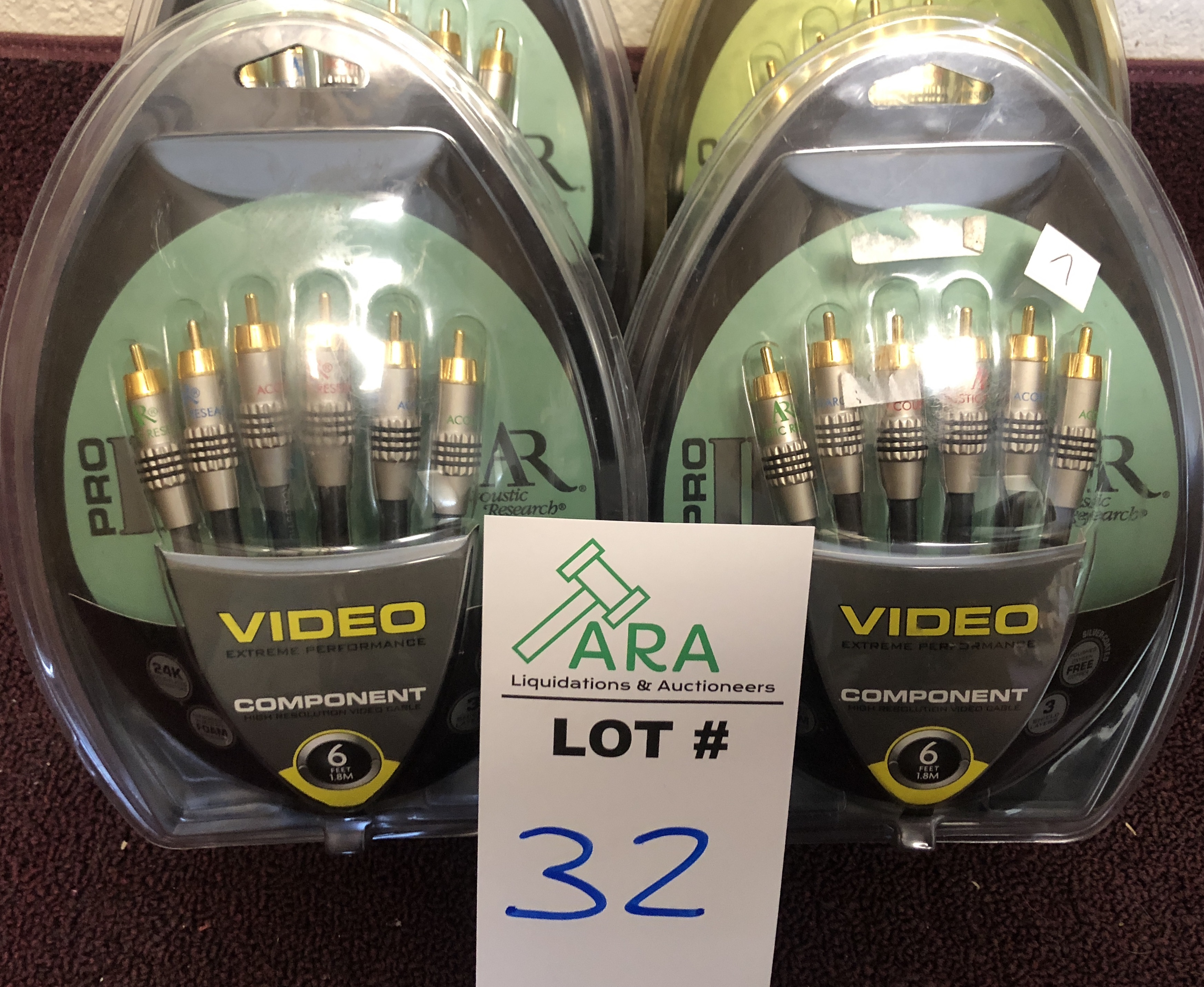Lot 32 - 4 X VIDEO COMPONENT WIRE PRO WIRE SETS