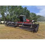 2002 Massey Ferguson 220XL 30Ft Swather 1507hrs 4.2 Perkins Eng, 5000 Series Header, Rear Weights,