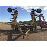 3500 Ezee-On 40ft Cultivator 8in Spacing, Floating Hitch, Mounted Tine Harrows, Hyd Lines at Rear