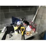 {LOT} Asst. Maintenance Folding Table, Supplies, Cooler & Janitorial